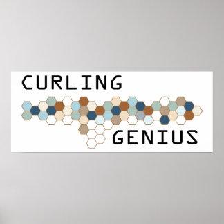 Curling Genius Posters