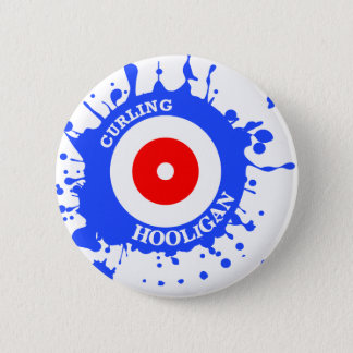 Curling Hooligan 2 Inch Round Button