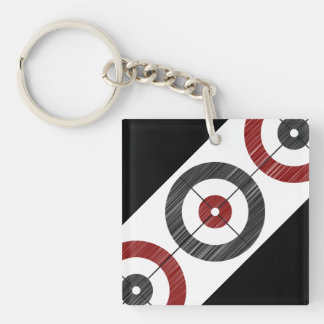 Curling Houses Keychain