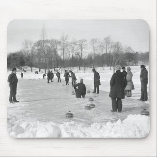 Curling in Central Park NYC Mouse Pad