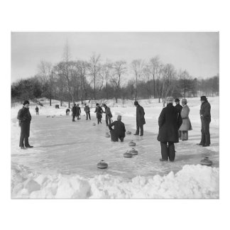 Curling in Central Park NYC Print