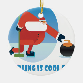 Curling Is Cool Day - Appreciation Day Ceramic Ornament