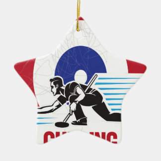 Curling Is Cool Day - Appreciation Day Ceramic Star Ornament