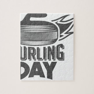 Curling Is Cool Day - Appreciation Day Jigsaw Puzzle