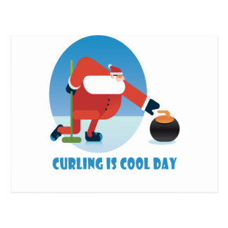 Curling Is Cool Day - Appreciation Day Postcard