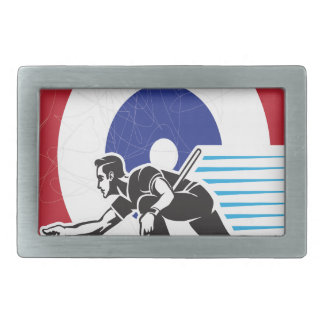 Curling Is Cool Day - Appreciation Day Rectangular Belt Buckle