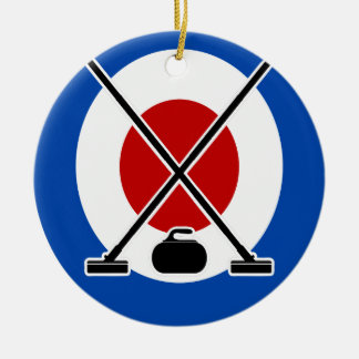 Curling Is Cool Day - Appreciation Day Round Ceramic Ornament