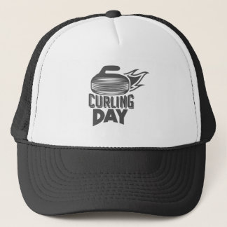 Curling Is Cool Day - Appreciation Day Trucker Hat