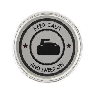 Curling Lapel Pin