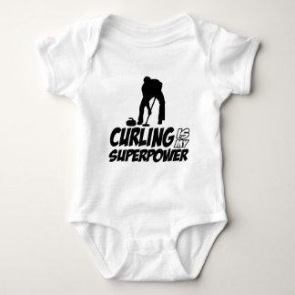 curling my superpower baby bodysuit