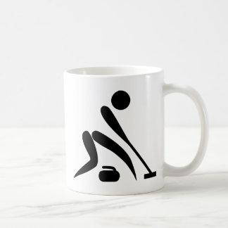 Curling Pictogram Basic White Mug