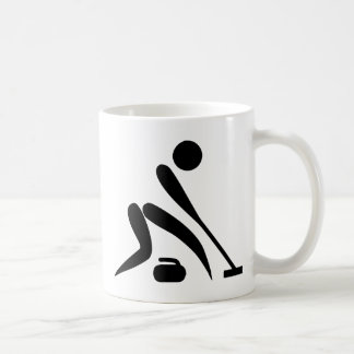 Curling Pictogram Classic White Coffee Mug