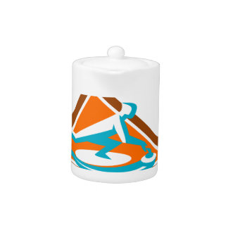 Curling Player Sliding Stone Triangle Icon