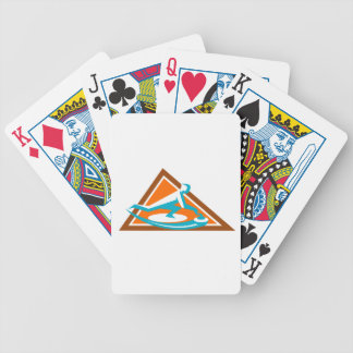 Curling Player Sliding Stone Triangle Icon Bicycle Playing Cards