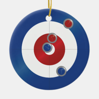 Curling rings round ceramic ornament
