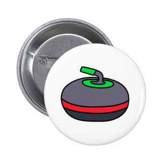 Curling Rock 2 Inch Round Button