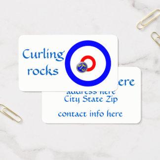 Curling rocks business card