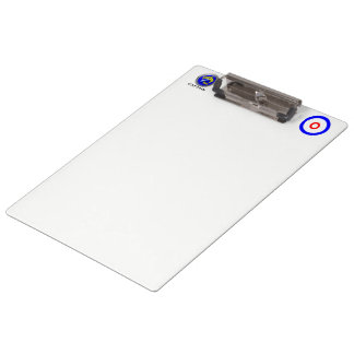 Curling rocks clipboard
