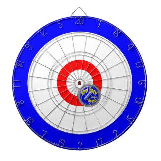 Curling rocks dartboard