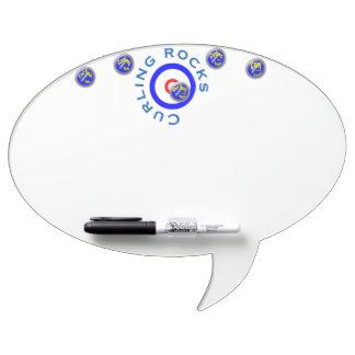 Curling rocks dry erase board