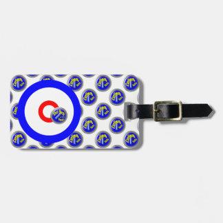 Curling rocks luggage tag