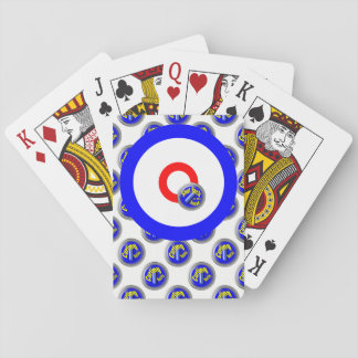 Curling rocks playing cards