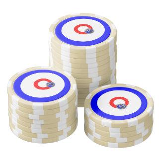 Curling rocks poker chips