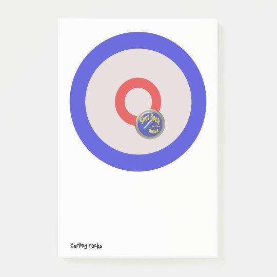 Curling rocks post-it® notes