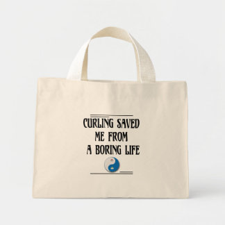 Curling Saved me from a Boring Life Mini Tote Bag