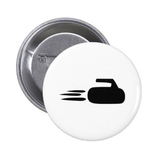curling stone icon 2 inch round button