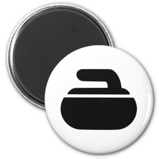Curling stone symbol 2 inch round magnet