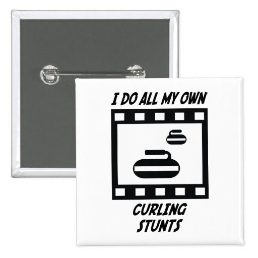 Curling Stunts Pinback Buttons