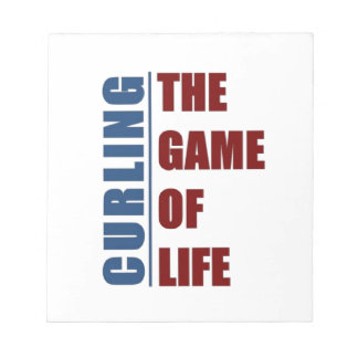 Curling the game of life notepads
