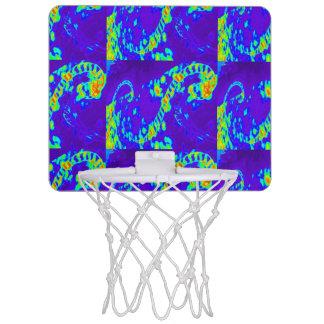 curling waves Thunder_Cove blue/green Mini Basketball Hoop