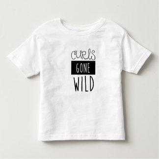 Curls Gone Wild Kids Tshirt