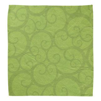Curls line green bandana