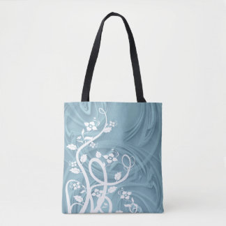 Curls Over Blue Artwork Tote Bag