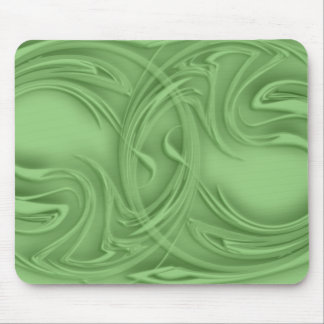 Curls Over Green Artwork Mouse Pad