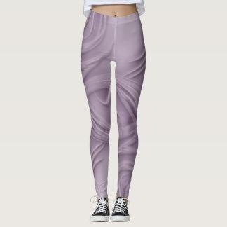 Curls Over Purple Artwork Leggings