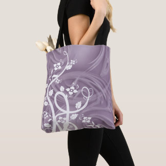 Curls Over Purple Artwork Tote Bag