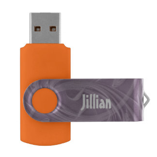 Curls Over Purple Artwork USB Flash Drive