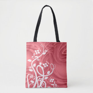 Curls Over Red Artwork Tote Bag