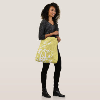 Curls Over Yellow Artwork Crossbody Bag