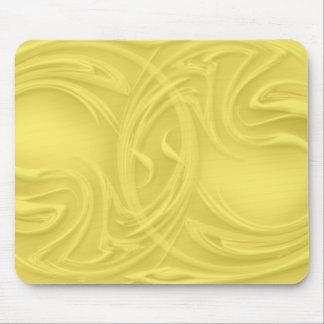 Curls Over Yellow Artwork Mouse Pad