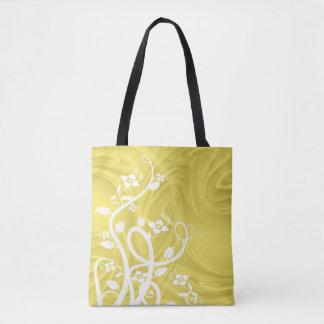 Curls Over Yellow Artwork Tote Bag