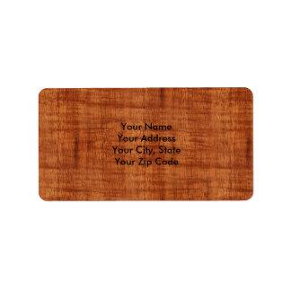 Curly Acacia Wood Grain Look