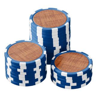 Curly Acacia Wood Grain Look Poker Chips Set