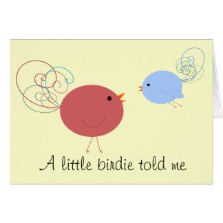 Curly Birdies Greeting Card