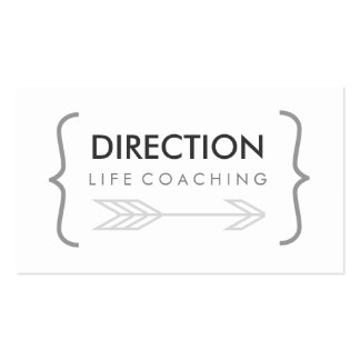 Curly Bracket Bold Text Creative Life Coaching Business Card