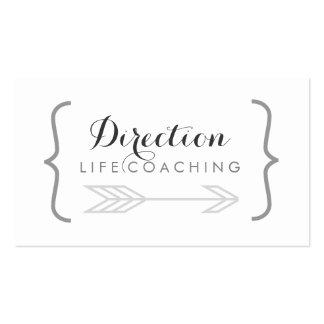 Curly Bracket Cursive Name Creative Life Coaching Business Card